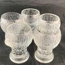 SHOT GLASSES SET 5 FROSTED MODERNIST BARWARE DRINKWARE