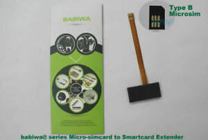 babiwa series No.3M TypeB Microsimcard to Smartcard Bigcard Extension Cable