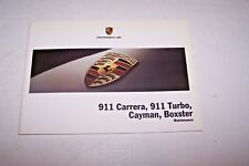 2007 Porsche Service schedule 911 Carrera Boxster Cayman turbo Maintenance Book