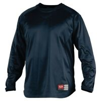 Rawlings Navy UDFP2 Dugout Fleece Pullover Adult