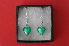 Beautiful Murano Glass Earrings 3 Cm. Long + Hooks In Display Gift Box