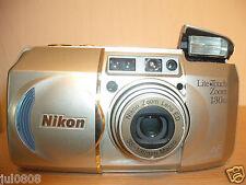 Nikon Lite Touch Zoom 130ED Cámara de película panorama Cuarzo Fecha ~ ~ Lente Macro (47JY12)