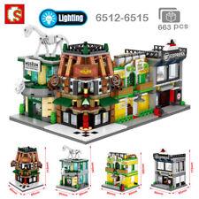 Sembo City Street Museum Bar Apartment Express Company Blocks Building Toy 4Pcs