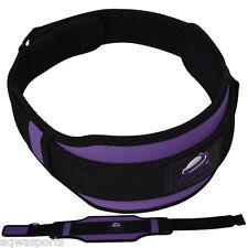 Women Weight Lifting Belt Gym Back Support Training Fitness Lumber Pain Purple