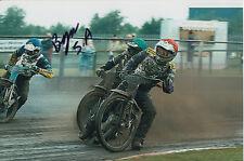 BYRON Bekker mano firmato Scunthorpe SCORPIONI Speedway gioco 6x4 Foto 9.