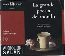 Audiolibro audiobook  LA GRANDE POESIA DEL MONDO ANTOLOGIA   usato