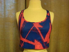 Champion Women's Sports Bra Racerback Blue and Pink Splatter Size Extra Large