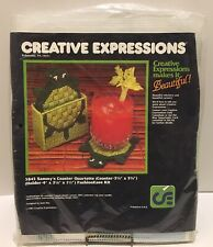 Vintage Creative Expressions 5843 Sammy's Coaster Kit Turtle Coasters, Holder