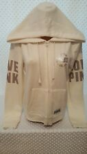 NWOT Victoria's Secret PINK Full Zip-Up Hoodie Ivory L