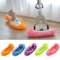 2x Mop Slippers Lazy Floor Foot Socks Shoes Polishing Cleaning Dust