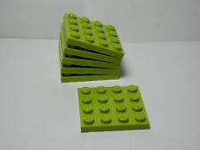 LEGO Set of 6 New 4 x 4 Plates Lime  2012   8-14 Boys & Girls  3031   Ninjago