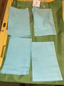 Princess House Aqua/blue Napkins set Of 4 NEW IN BAG no Longer Available #3483