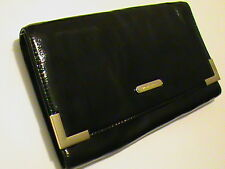 Michael Kors Beverly NWT black patent leather clutch shoulder bag purse women's