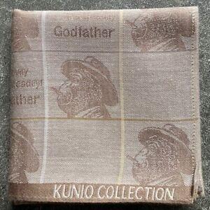 "ART BROWN GODFATHER GORILLA CHECKS MEN'S POCKET SQUARE SCARF HANDKERCHIEF~17"""