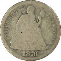 1876 CC Seated Liberty Dime AG AG About Good 90% Silver 10c US Type Coin