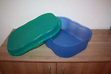Tupperware Laibwächter A51 blau türkis grün Brotbehälter Brotbox Brotkasten Box