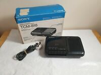Sony TCM-818 Vintage Cassette-Corder Built In Mic Portable Tape Player Recorder