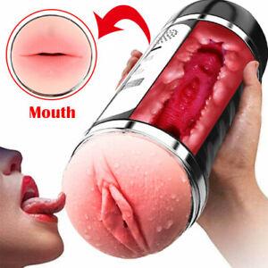 MultiSpeed Dual Masturbators Fleshlight Style Vaginal Pussy Sex Toy for Men USA