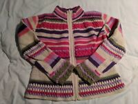 Boston Proper Multiple Color Lambs Wool Zip Up Sweater Women's Small