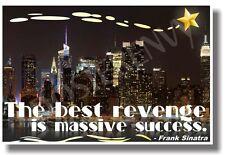 The Best Revenge Is Massive Success - New Classroom Motivational Poster (cm982)