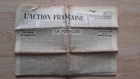 JOURNAL NATIONALISTE L'ACTION FRANCAISE 14 JUIN 1934 N° 165 ABE