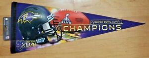 Baltimore Ravens Champions premium pennant champs SB Super Bowl 47 XLVII