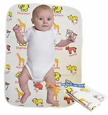 Baby Folding Travel Changing Mat Wipe Clean Waterproof Nappy Bag Size Fold Away