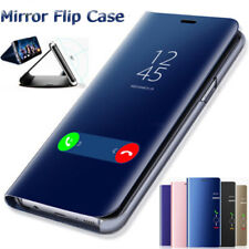 For Huawei Y5P Y6P Y7P Y8P Smart Clear View Mirror Leather Flip Stand Case Cover