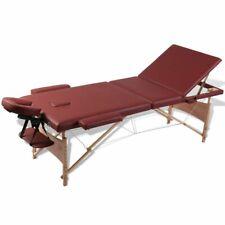 Inklapbare massagetafel 3 zones met houten frame (Rood) massage tafel behandel