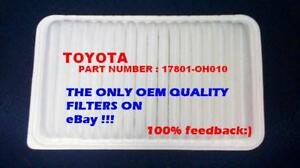 Engine Air Filter For 02-06 Toyota Camry Lexus Sienna OEM Quality Perfect Fit
