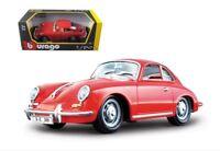 G LGB 1:24 Maßstab Rot Porsche 356 Coupe 1961 Detaillierte Druckguss Modellauto