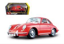 G LGB 1:24 Escala Rojo Porsche 356 Coupé 1961 Detallado Fundido Modelismo Coche