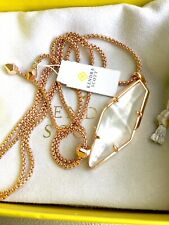 Kendra Scott Beatrice Long Necklace In Rose Gold Ivory MOP