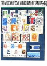 COMPLETE 1974 MEXICO Collection Complete Commemorative Year MNH (33 Stamps+1 SS)