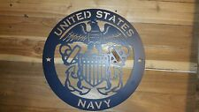 "UNITED STATES NAVY Sign,16"" Hand Made in Waco Texas"