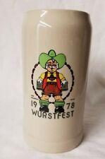 New listing 1978 1l Gerz Wurstfest Mug Stein New Braunfels Texas Opa Festival
