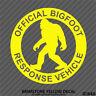 Official Bigfoot Response Vehicle Sasquatch Vinyl Decal Sticker - Choose Color