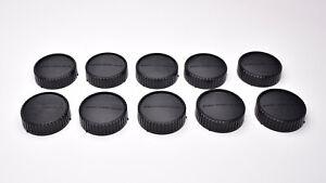 Genuine Minolta MD MC SR Mount Rear Lens Cap Lot Qty-10  (#T1676)