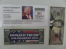 DONALD TRUMP, 8-26-2016, SOUTH POINT ARENA, LAS VEGAS, NV, BIG TIME RALLY TICKET
