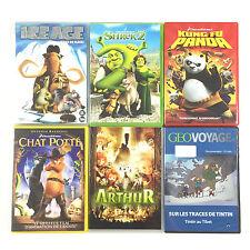 Coffret Lot 6 DVD L'age De Glace, Shrek 2, Kung Fu Panda, Le Chat Potté...