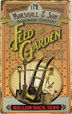 Feed and Garden Supply Rustic Vintage Primitive Metal Sign