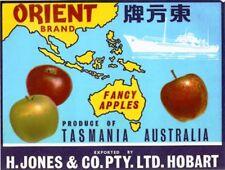 "SALE- Vintage Tasmania Apple Case Labels Fruit Art Poster ""baker's dozen""-L (13)"