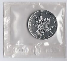 CANADA 5 DOLLARI  ARGENTO SILVER MAPLE LEAF 2000 1 Oz. MINT SEALED FOGLIA ACERO