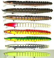 8 Inches Bass Striper Fishing Bait Swimbait Lure Life-like Eel Loach NEW