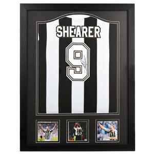Official Replica Alan Shearer Signed Framed 1996 Newcastle United Football Shirt