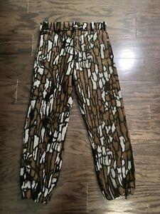 Vintage Cabelas Whitetail Clothing Fleece Treebark Camo Hunting Pants Small