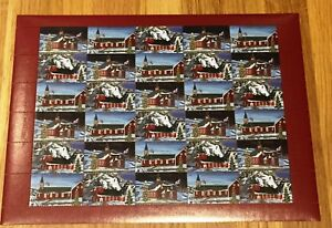 Greenland Christmas Labels 1998 Full Sheet MNH - Medium Format - Excellent