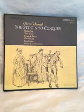"Vintage 1965 Oliver Goldsmith ""She Stoops To Conquer"" 3 Record Albums Box Set"