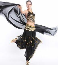 Indian Dance veil Belly Dance Chiffon veil Big Veil Shawl Gold Trim 8 Colors