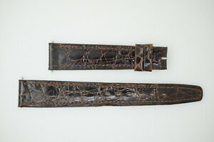OMEGA NOS Vintage Leather Watch Strap Brown 17/14 17mm (B225)